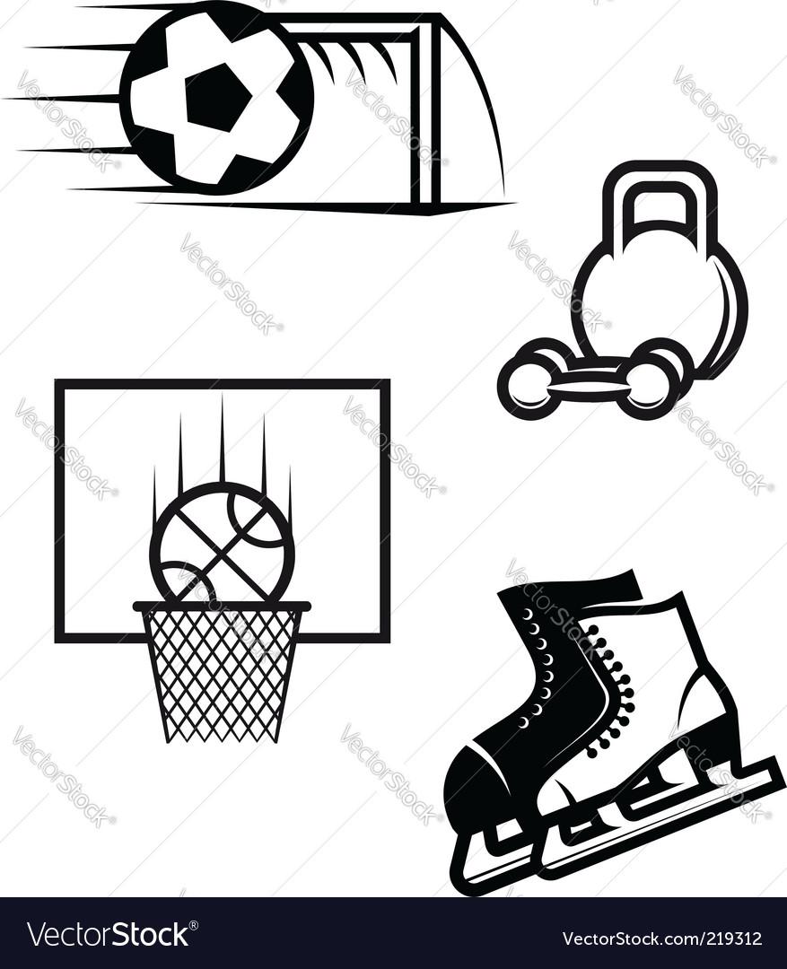 Sport Symbols Royalty Free Vector Image Vectorstock