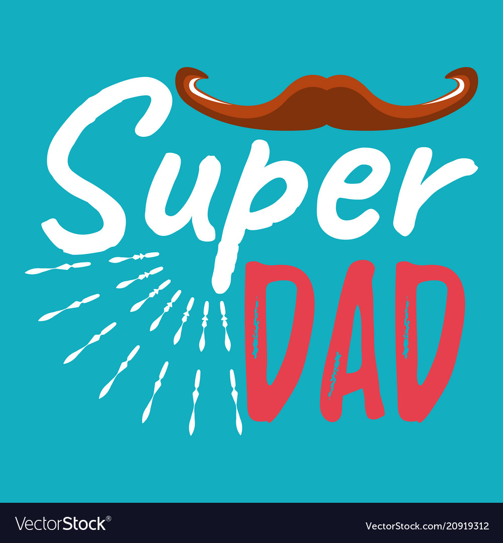 Super dad banner and giftcard fathers day poster