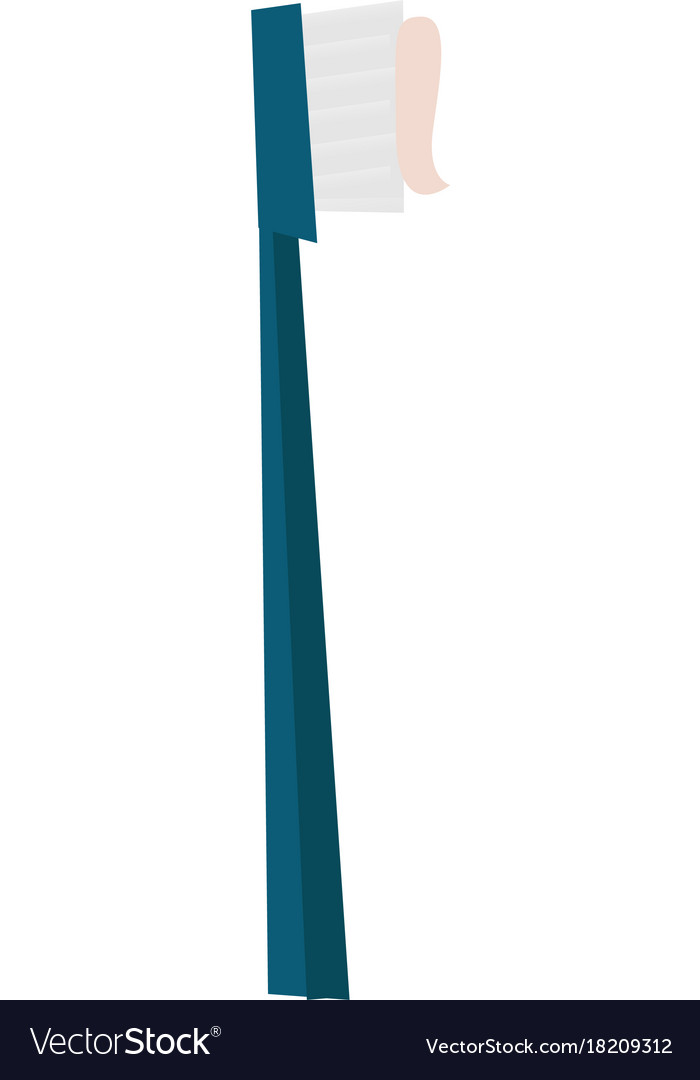 Toothbrush with toothpaste cartoon vector image