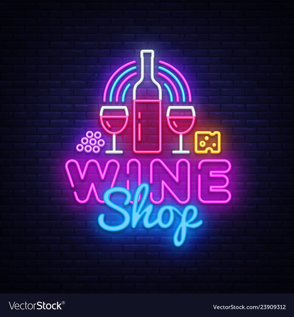 Wine shop neon signboard wine bar neon