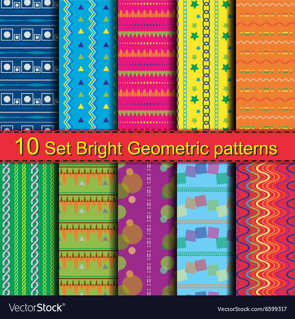 10 Set Bright Geometric patterns