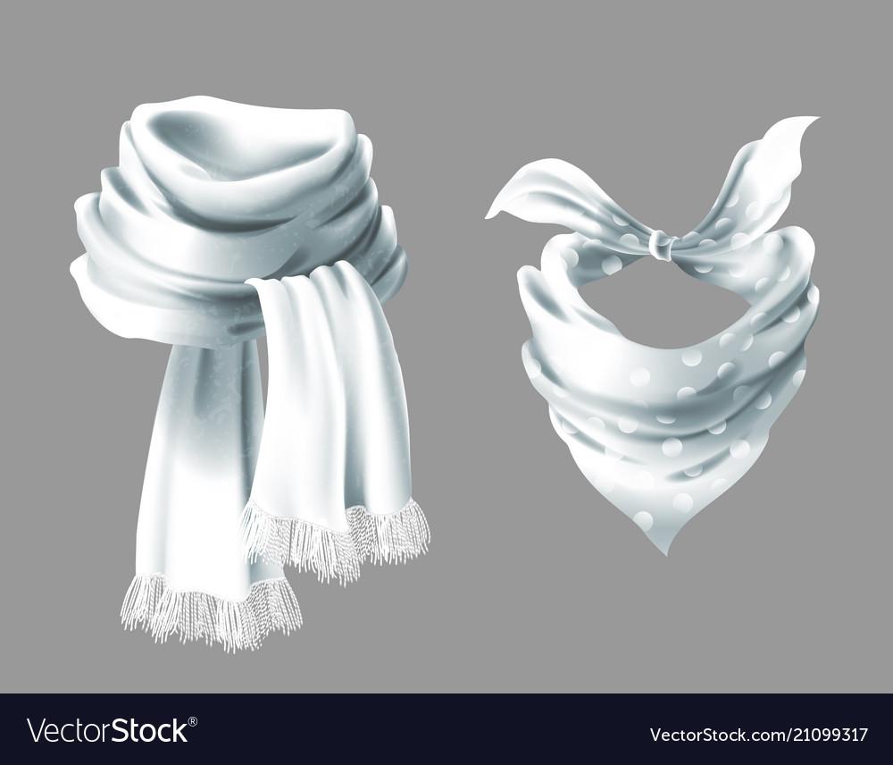 3d realistic red neck scarf neckerchief