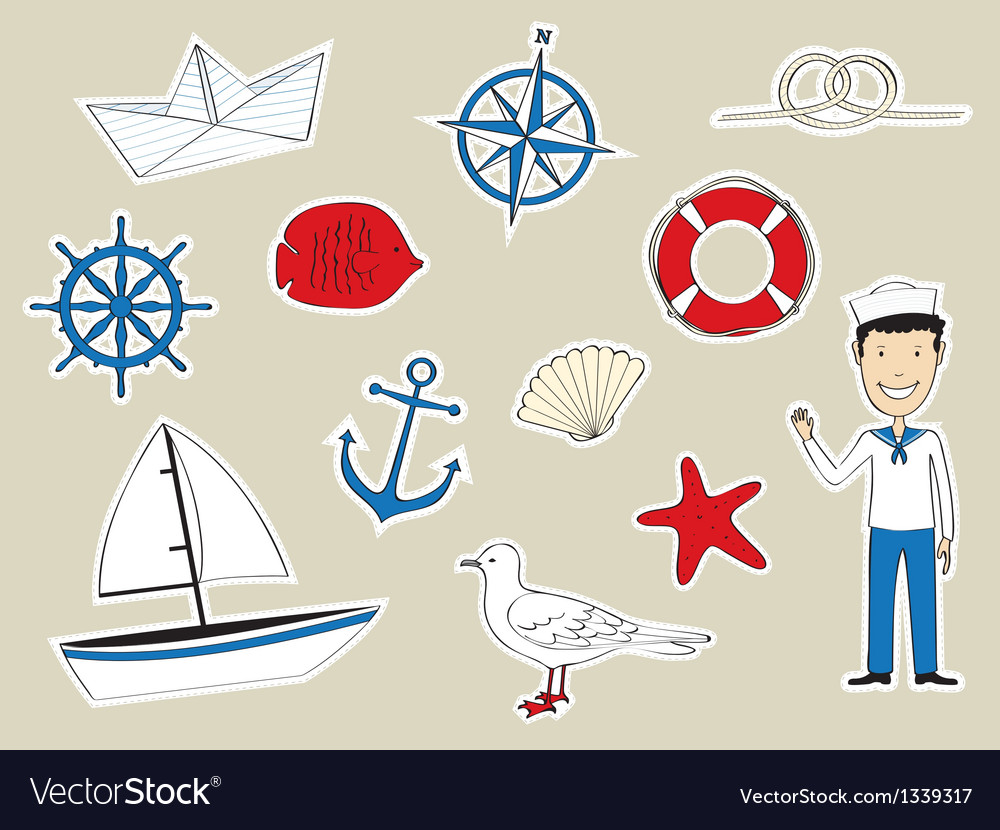Funny nautical set