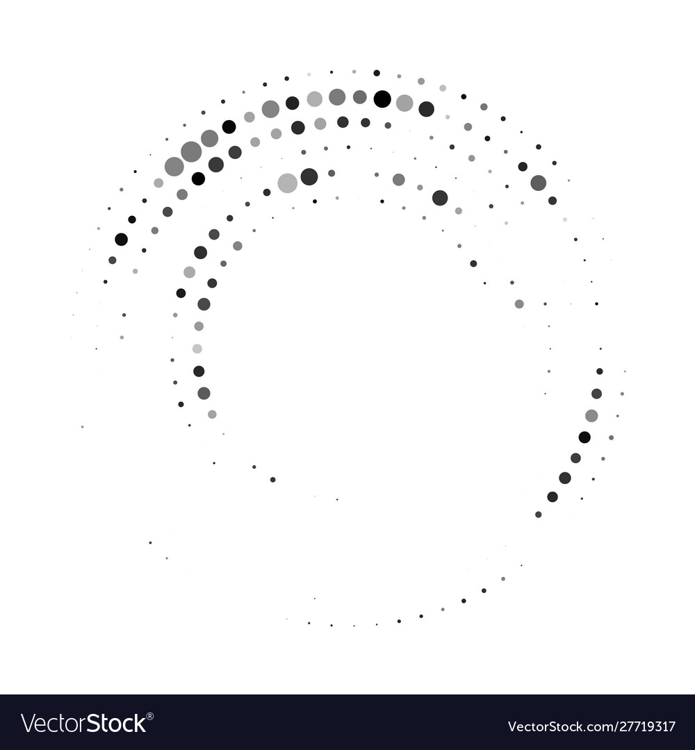 Halftone dots in circle form abstract geometric