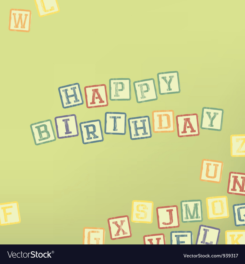 Happy birthday card vector 939317 by pashabo | Royalty