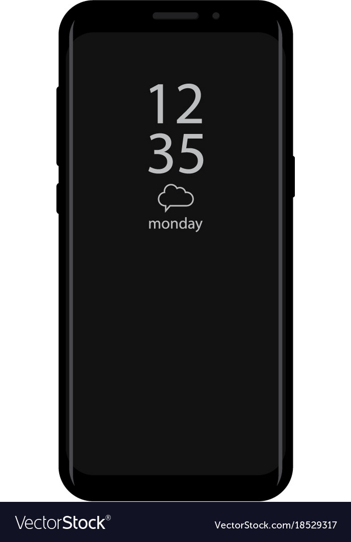 New version of smartphone with time display on