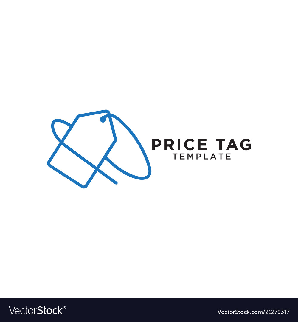 price tag logo template royalty free vector image