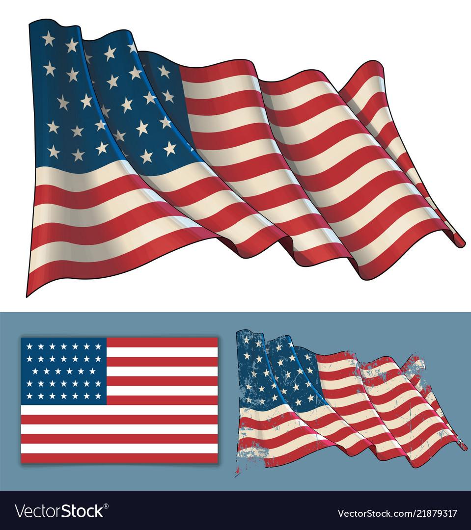 Waving union flag 1861-1863