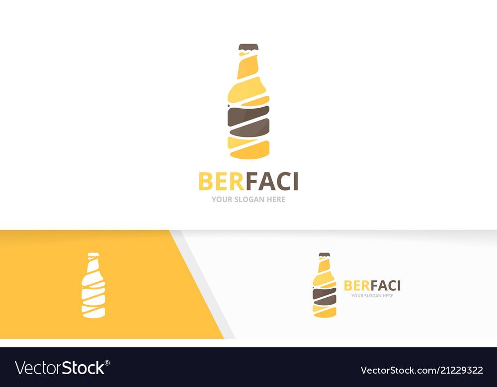 Bottle logo combination beer symbol or