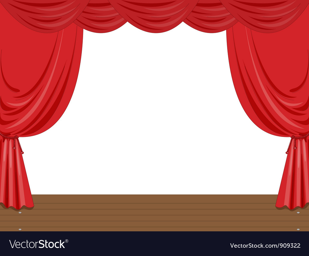 Empty stage vector image