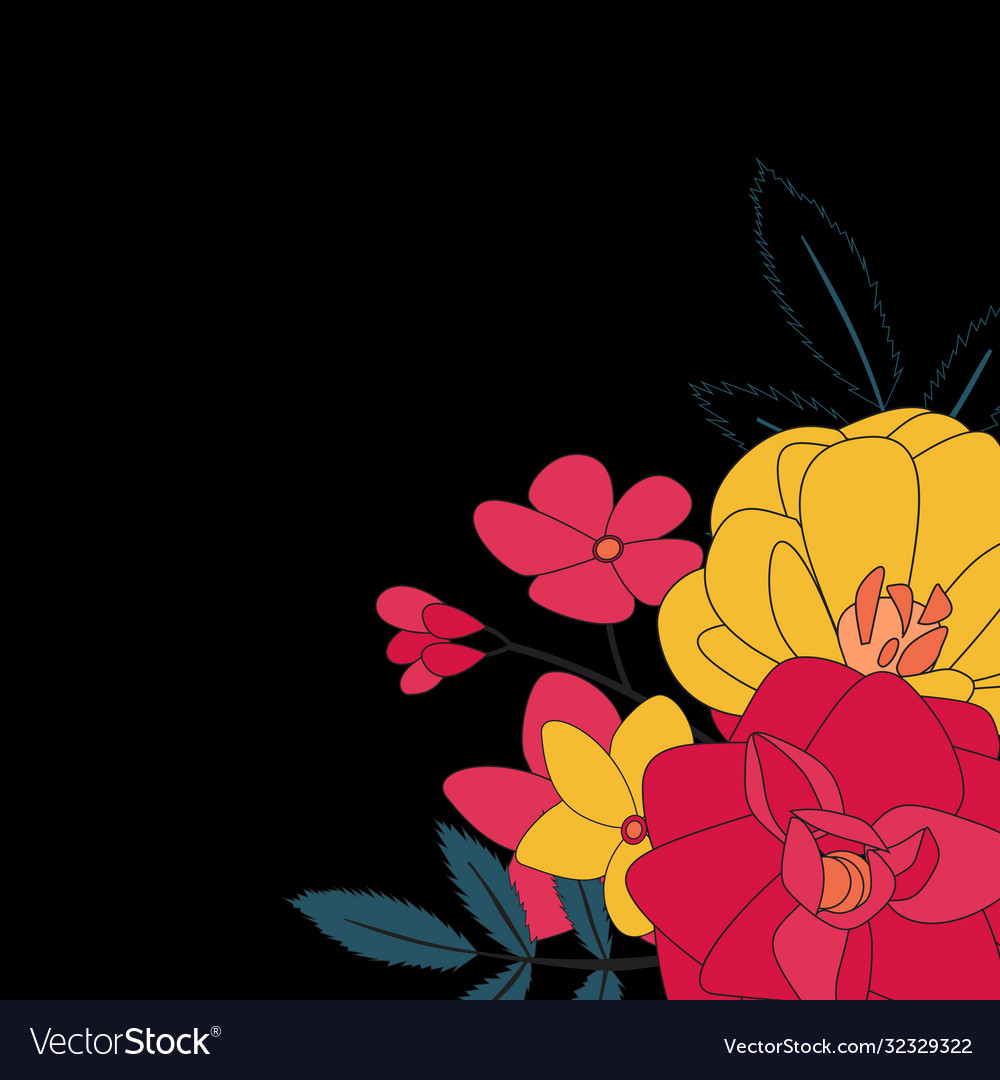 Hand drawn flower natural background