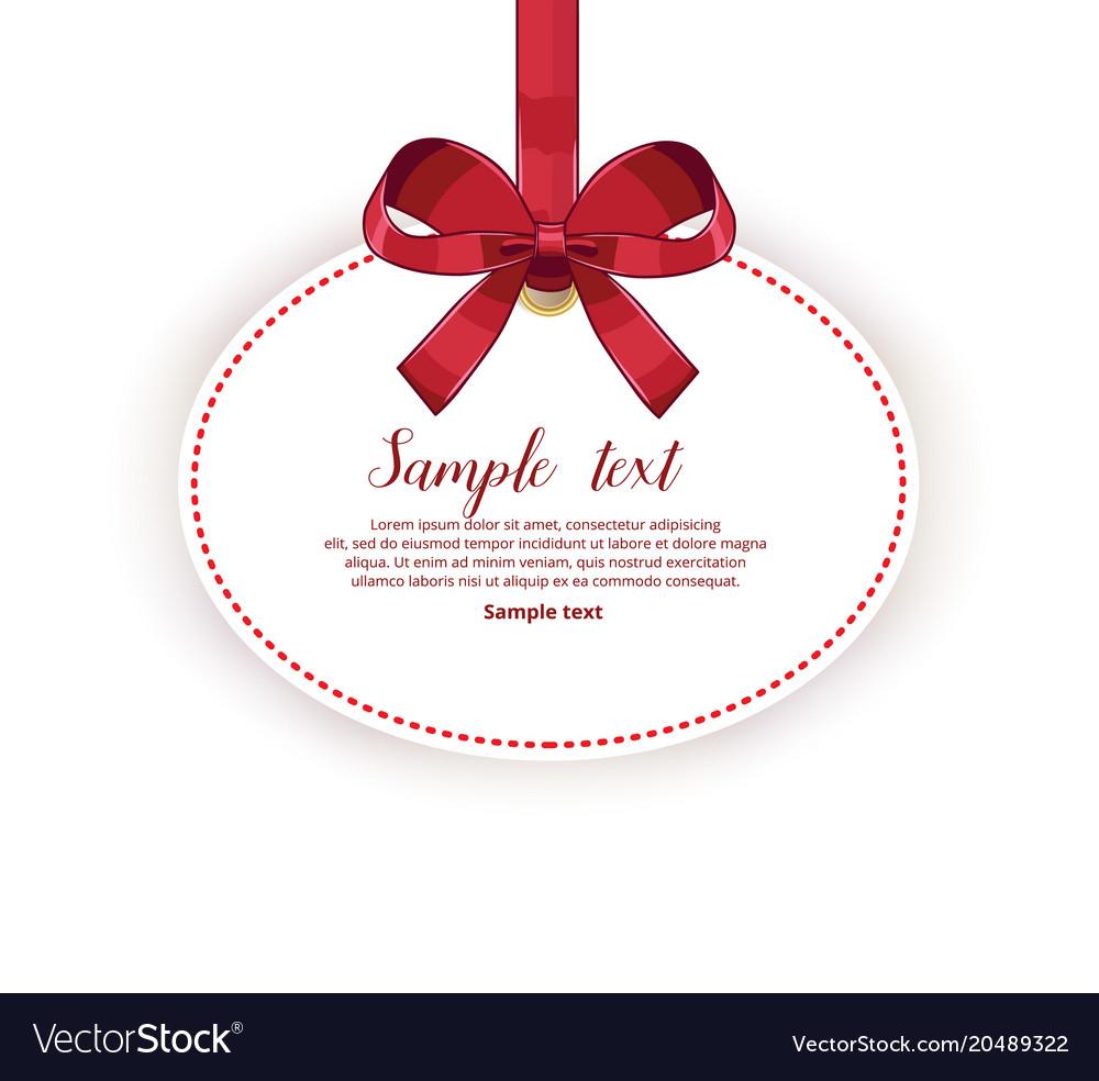 Wedding card template with ribbon royalty free vector image wedding card template with ribbon vector image stopboris Gallery