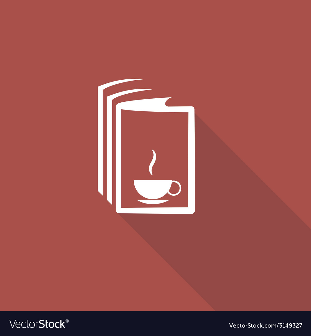 Book and a cup of tea icon
