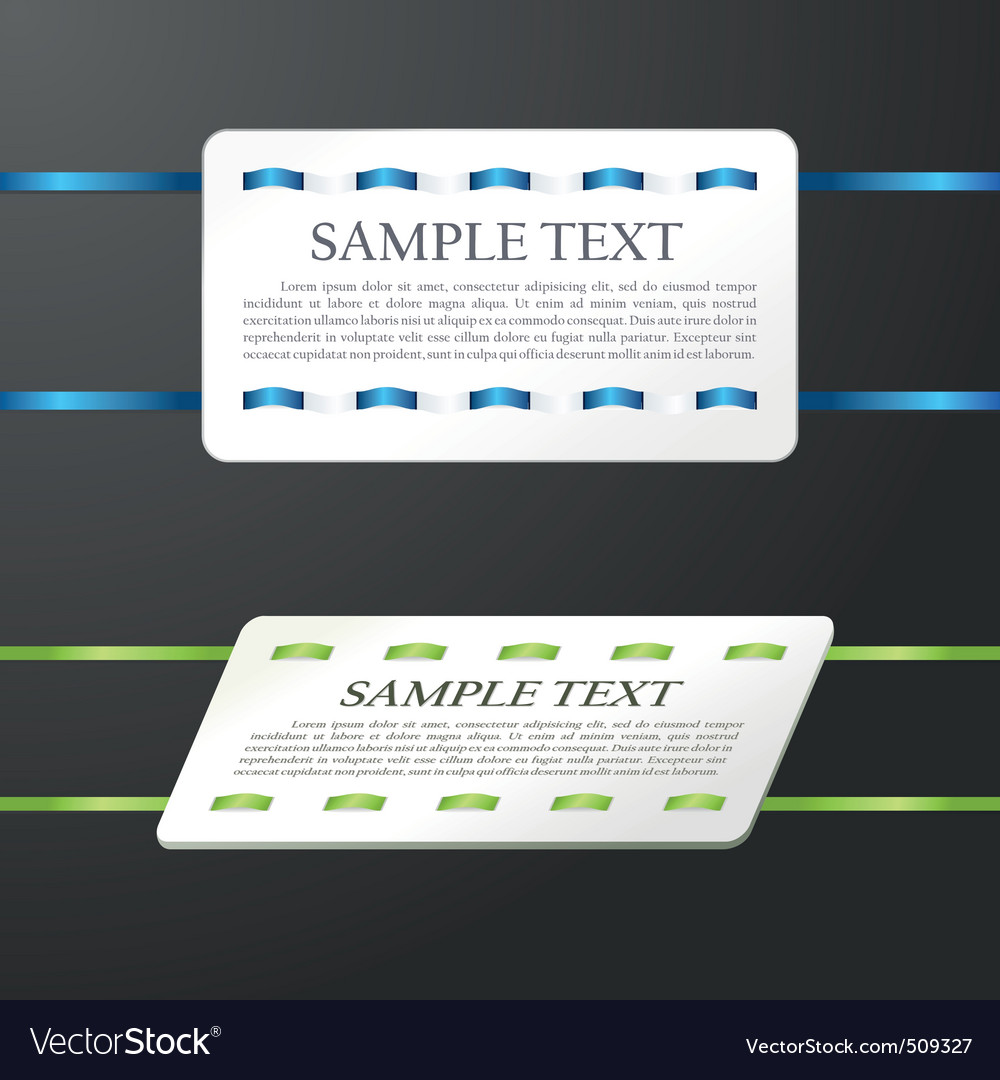 Glossy banner the stitched colour ribbon vector ca