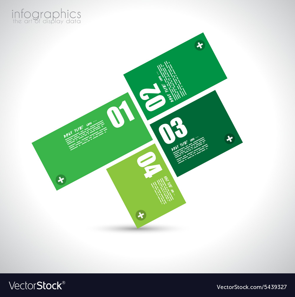 Infographic design template with paper tags