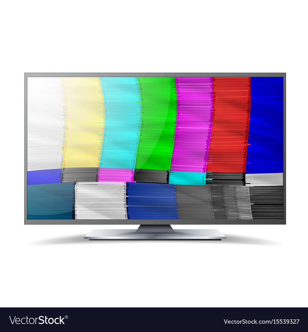No signal tv descendant network rainbow bars vector image