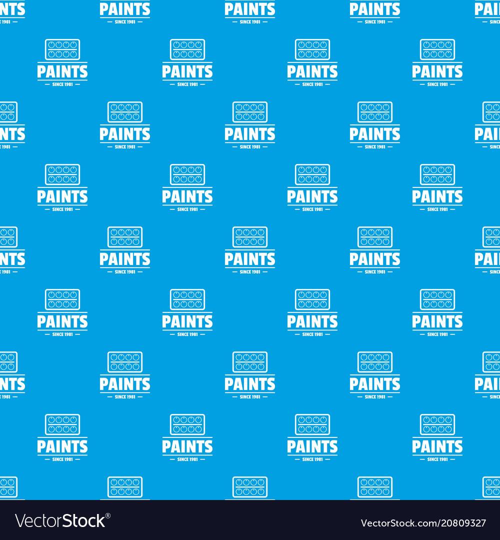 Paint tool pattern seamless blue