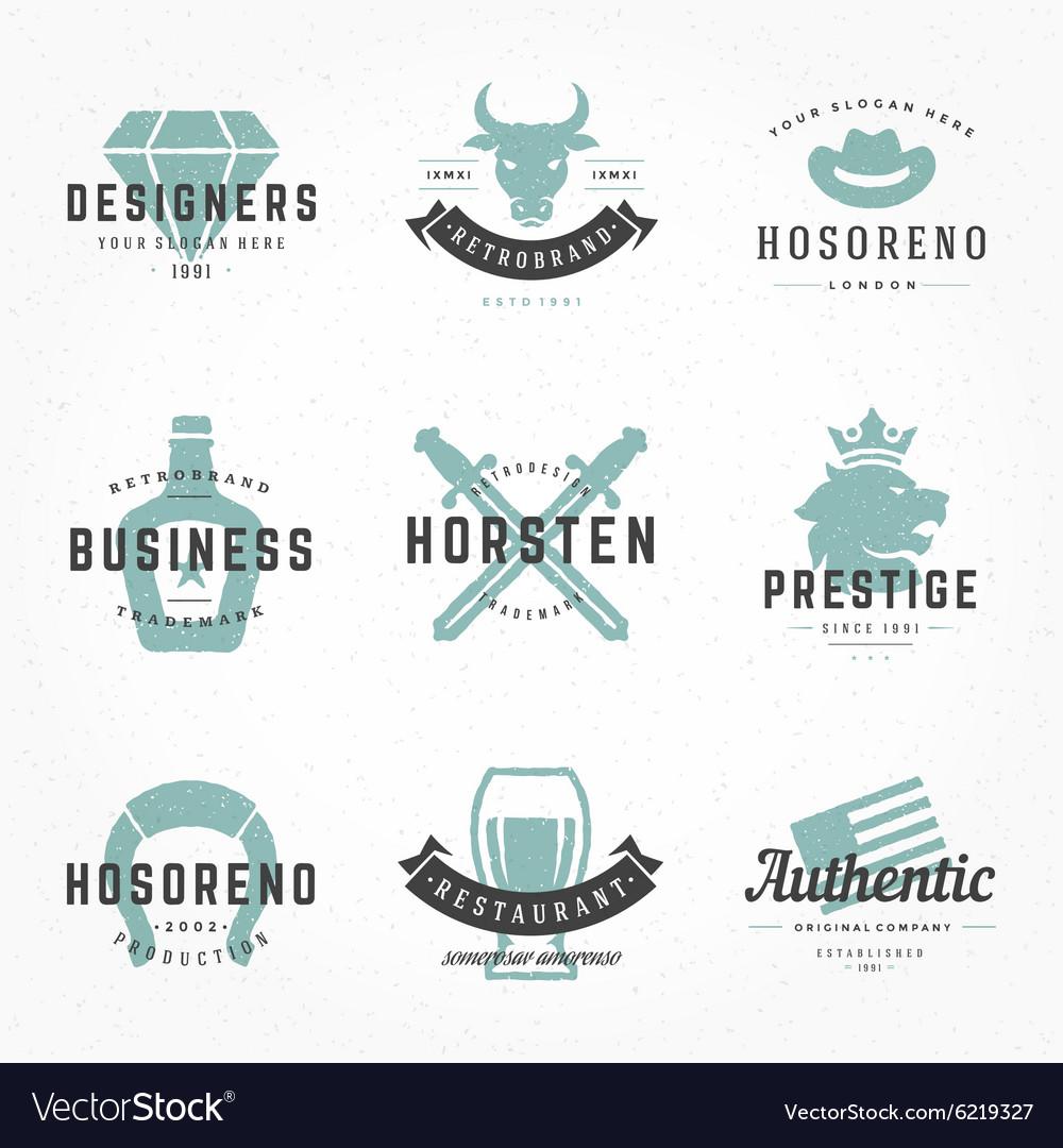 Retro Vintage Logotypes or insignias Hand drawn