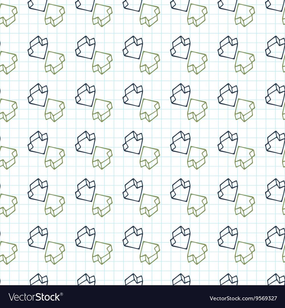Seamless pattern of arrows surround-like