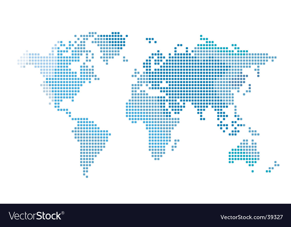 World Map Vector. Artist: djtoomey; File type: Vector EPS; Contains CS file: