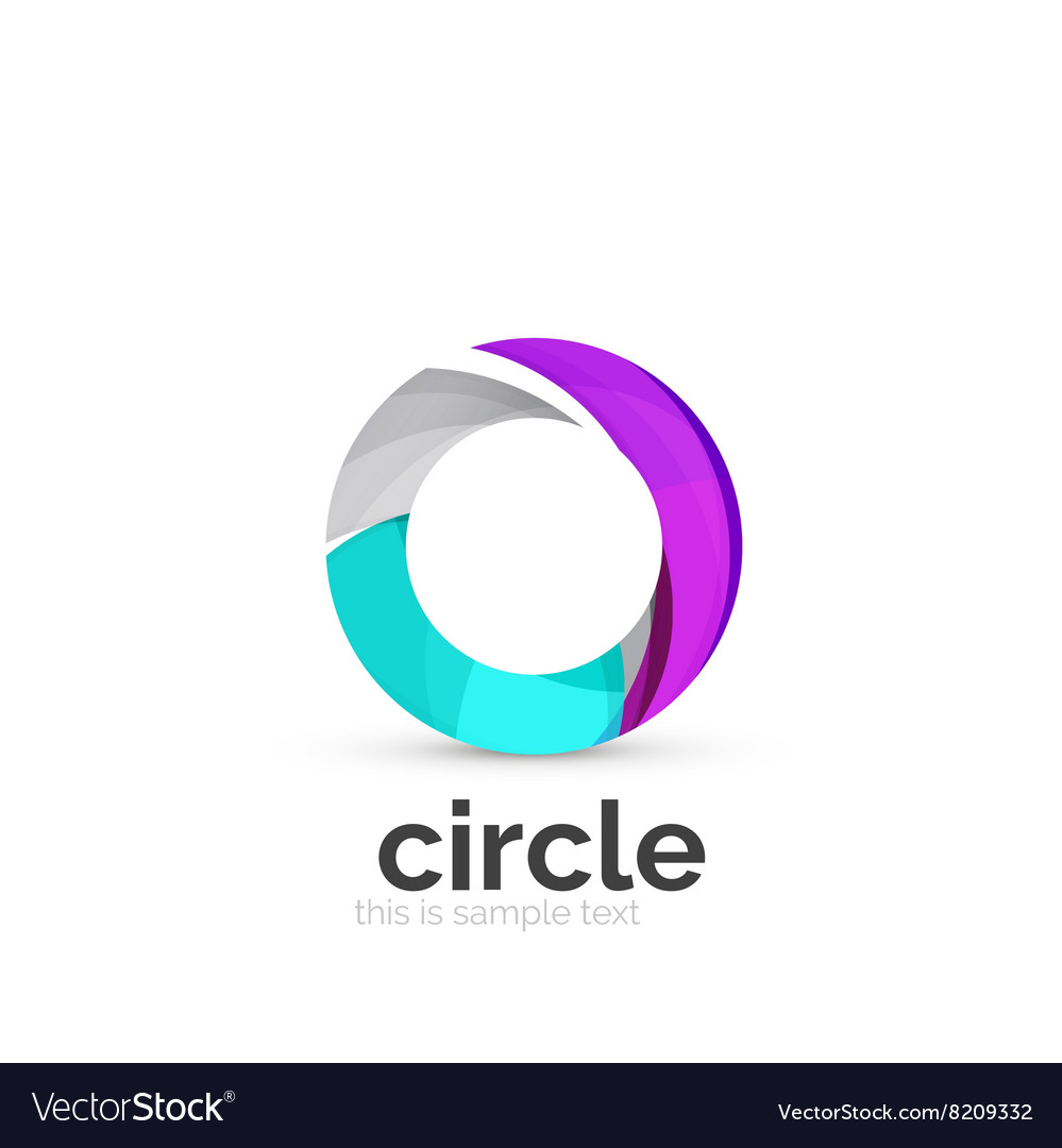 abstract swirly round logo template royalty free vector