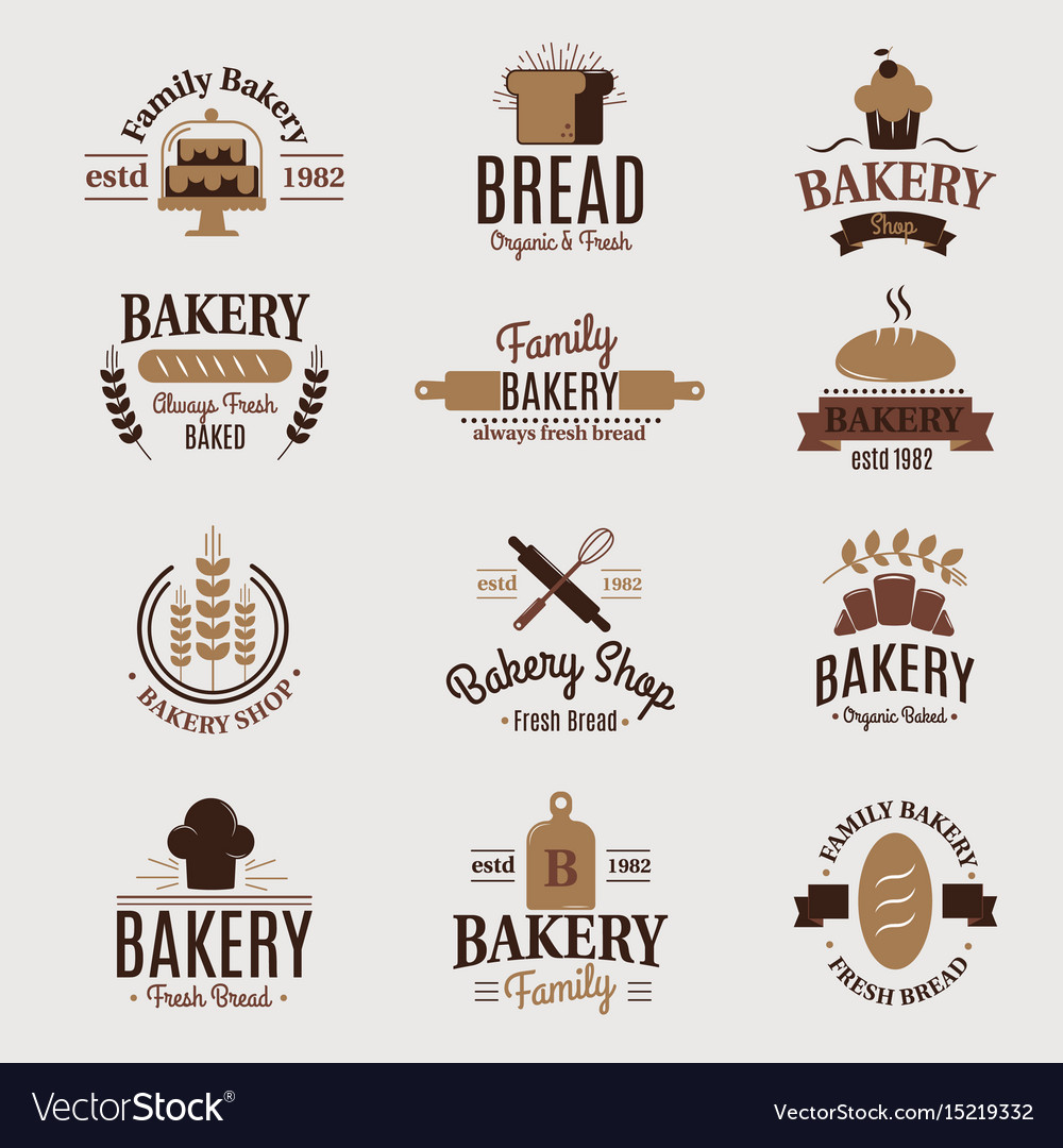Bakery badge icon fashion modern style wheat