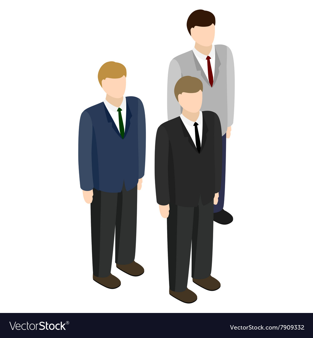 Businessmen icon isometric 3d style