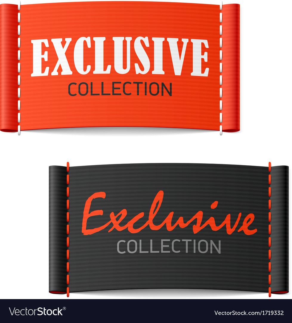 Exclusive Collection Clothing Labels Royalty Free Vector
