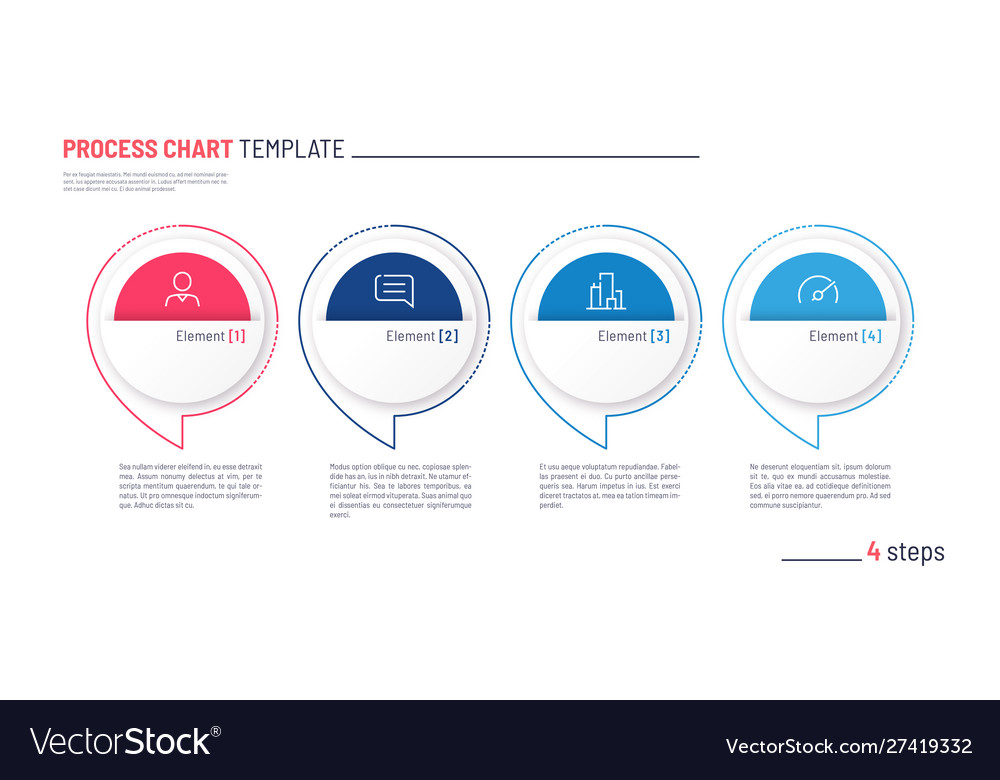 Infographic process chart template four