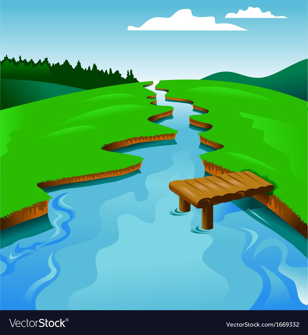 river royalty free vector image vectorstock vectorstock
