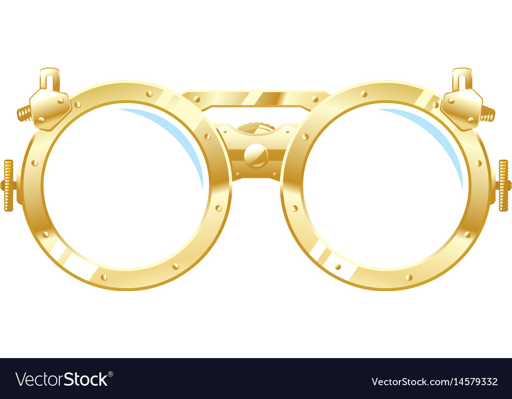 Steampunk glasses vector image