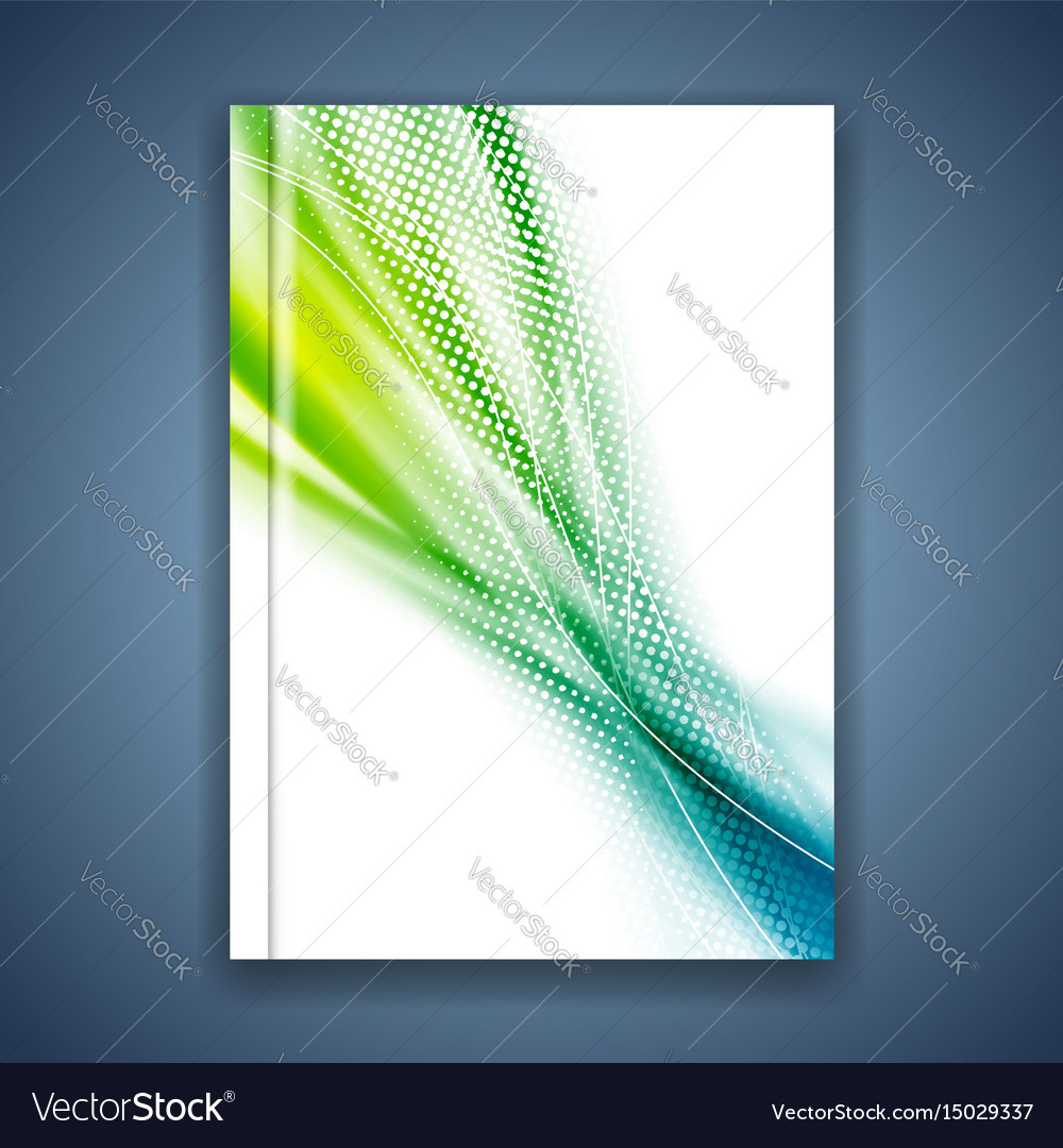 Bright modern abstract dotted folder template