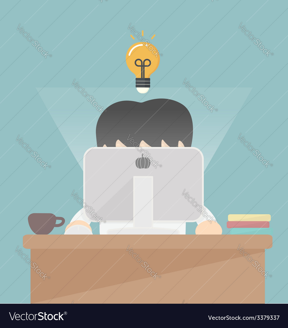 Businessman working at the computer
