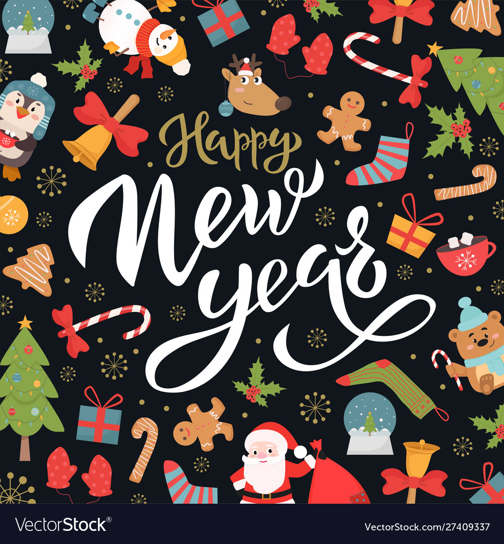 Happy new year social media banner template