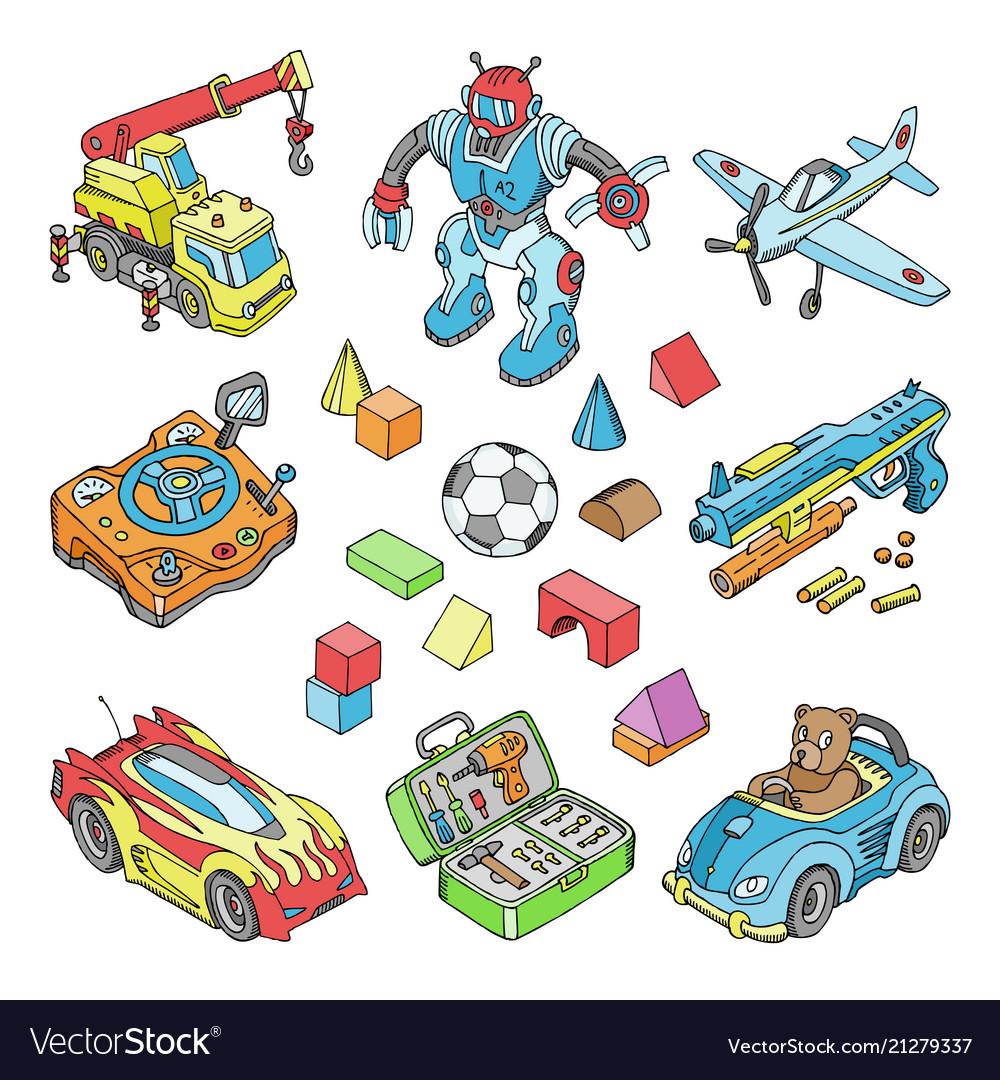 Kids toys cartoon boyish games in playroom