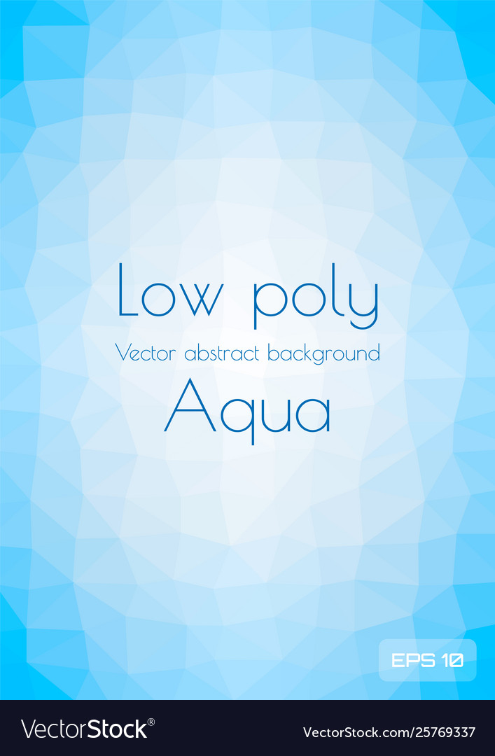 Low poly light blue abstract background vertical