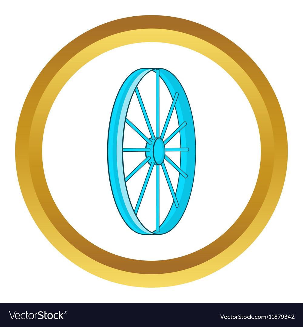 Bicycle wheel symbol icon