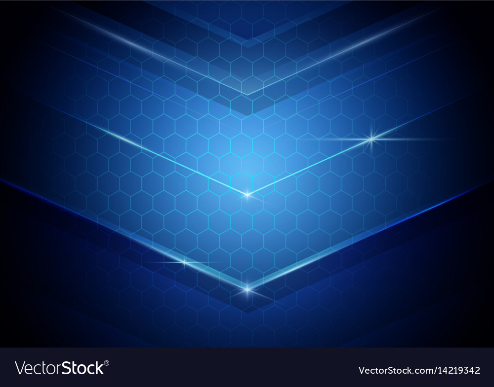 Blue abstract digital hi technology concept vector image