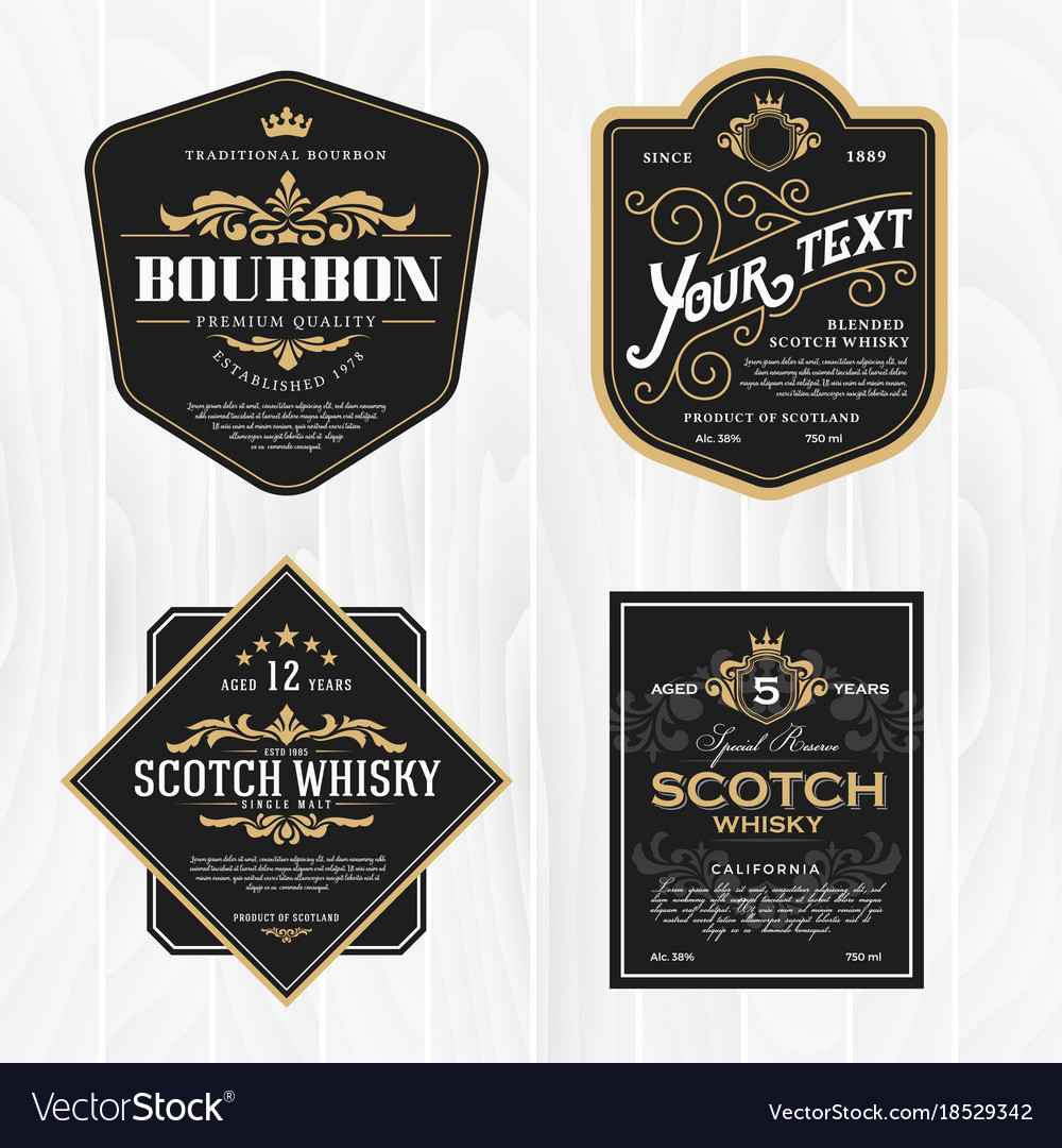 Classic vintage frame for whisky labels