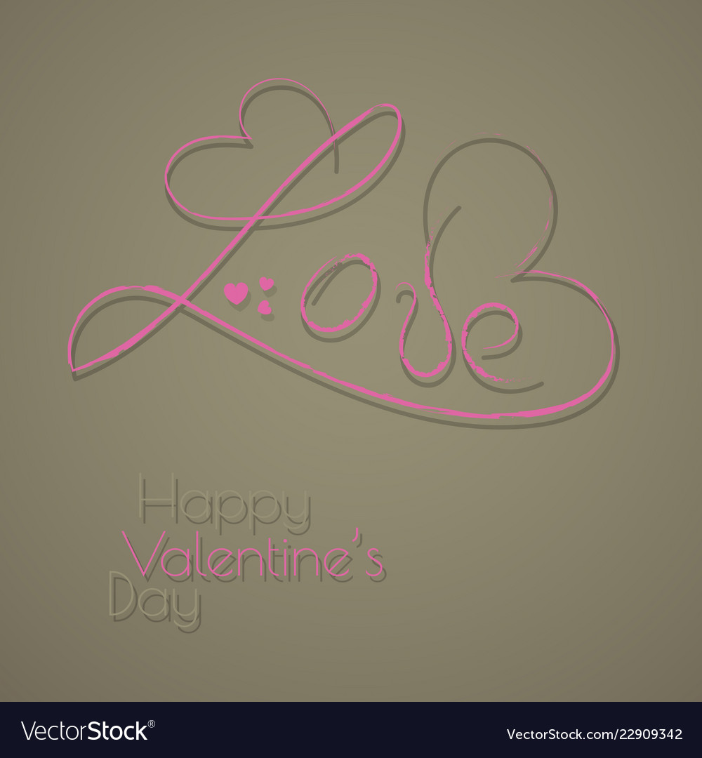 Happy valentines day typography design with paper