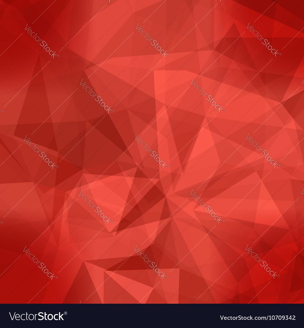 Red Light Polygonal Mosaic Background