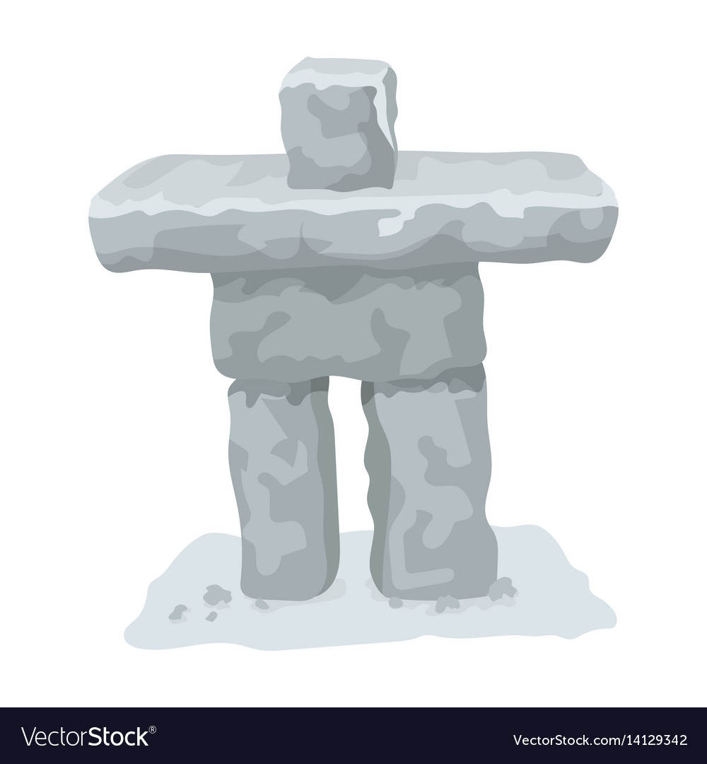 Stone sculpture in canada canada single icon in vector image