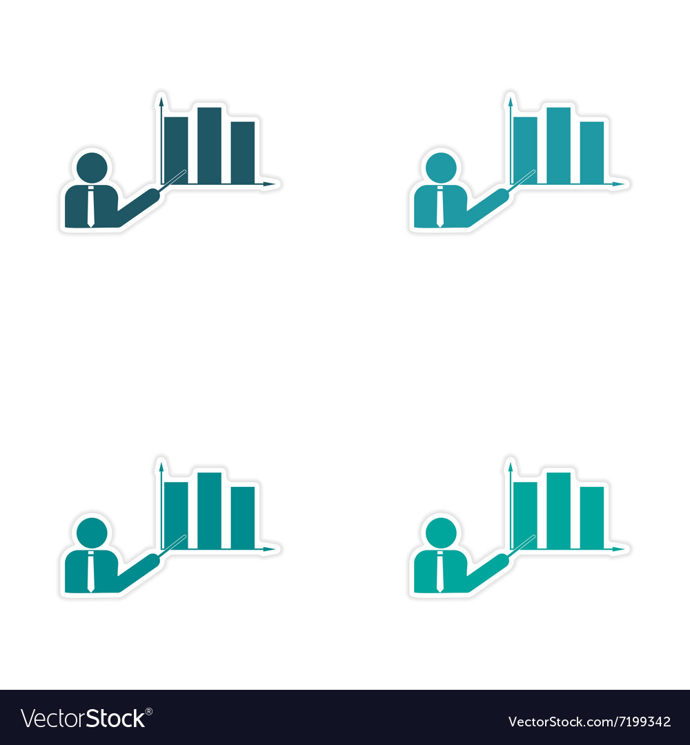 Stylish assembly sticker on paper People and chart