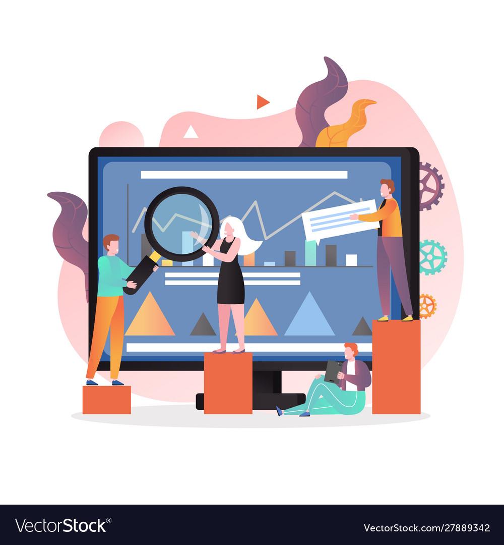 Teamwork concept for web banner website