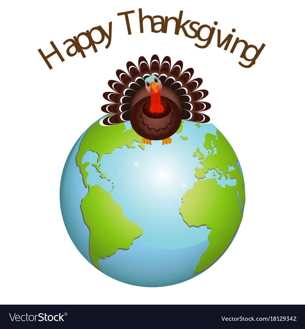 Turkey bird on earth for happy thanksgiving