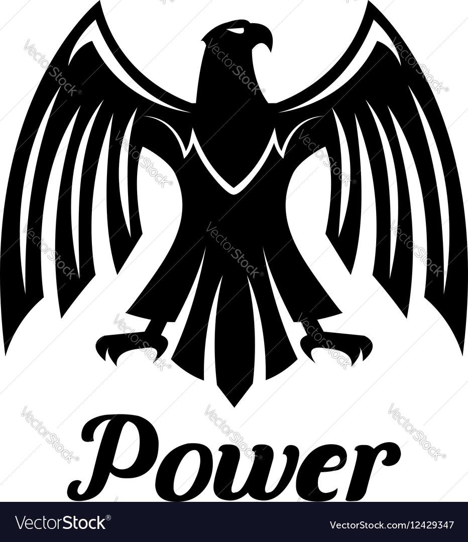 Black Eagle heraldic gothic icon