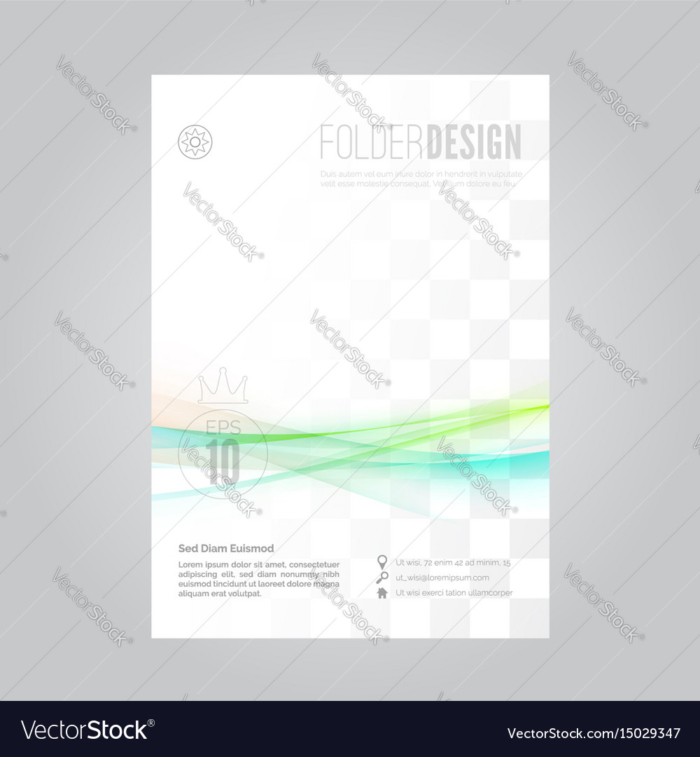 Bright swoosh fusion wave business folder