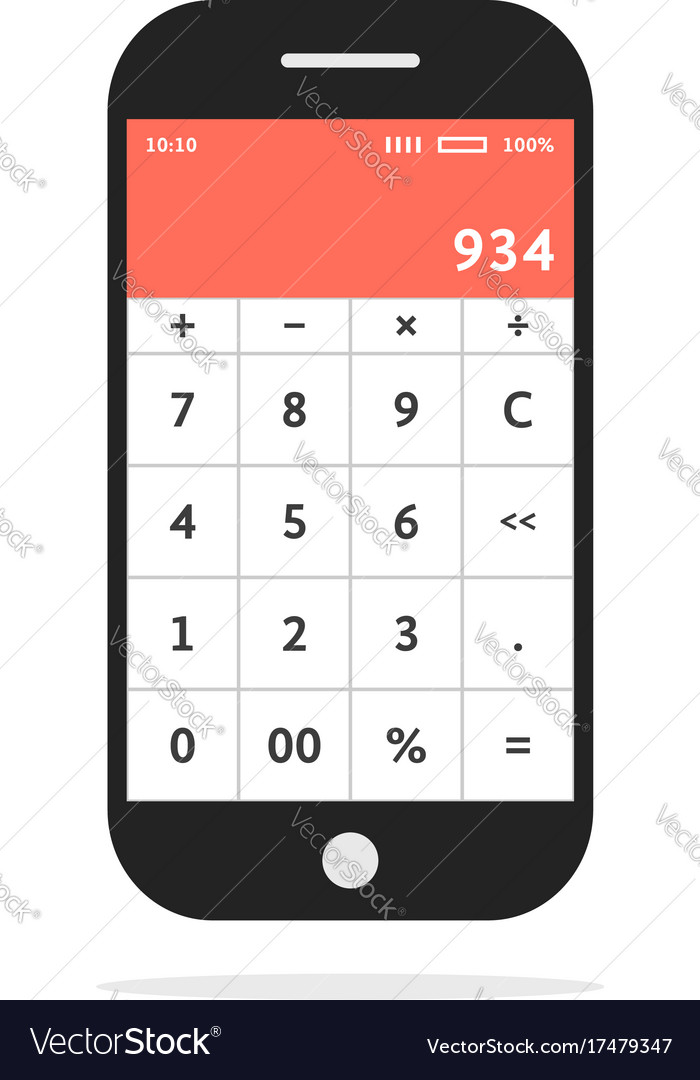 Calculator Mobile In Smart Phone
