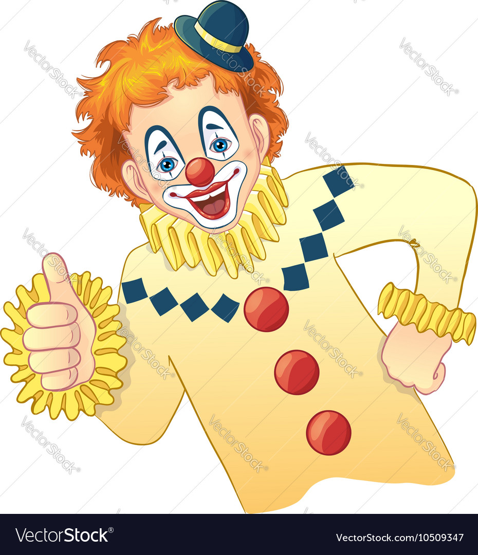 Cartoon funny clown image eps10