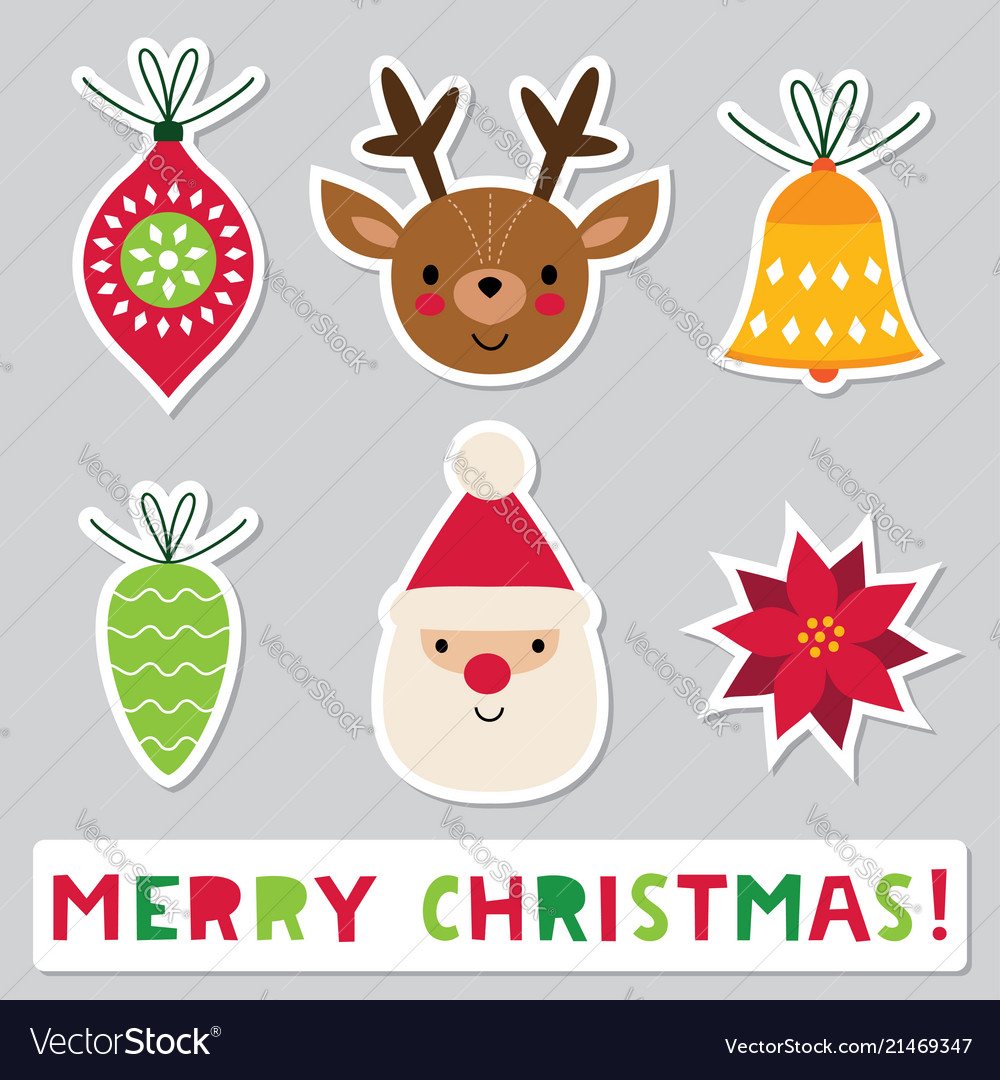 Christmas Stickers.Christmas Stickers Set